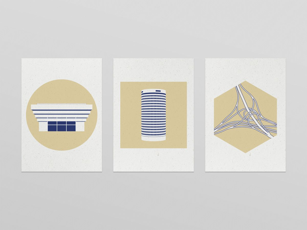 Brum Icons illustrations by Ian Jones