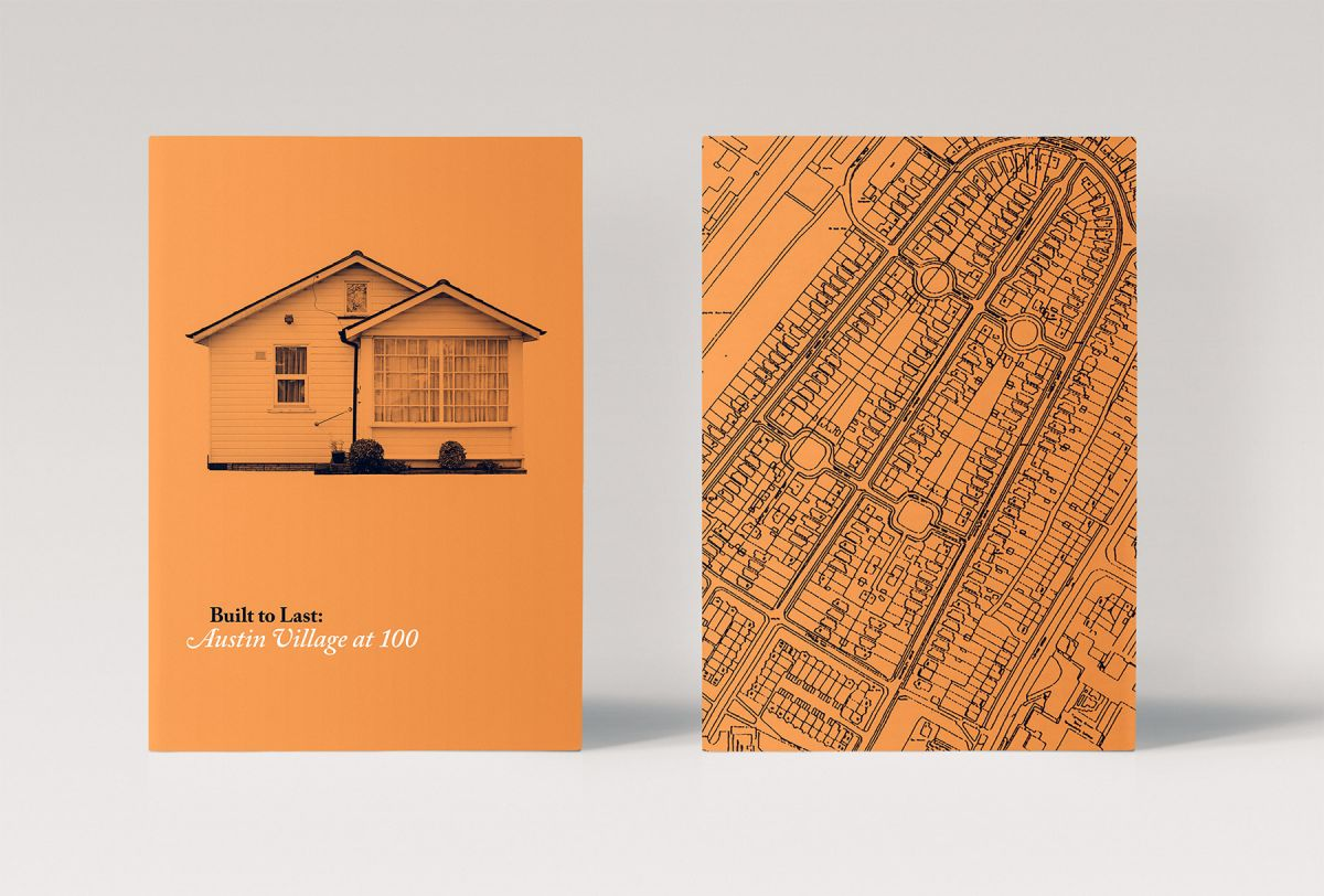 An identity and publication to celebrate the iconic Austin Village turning 100.