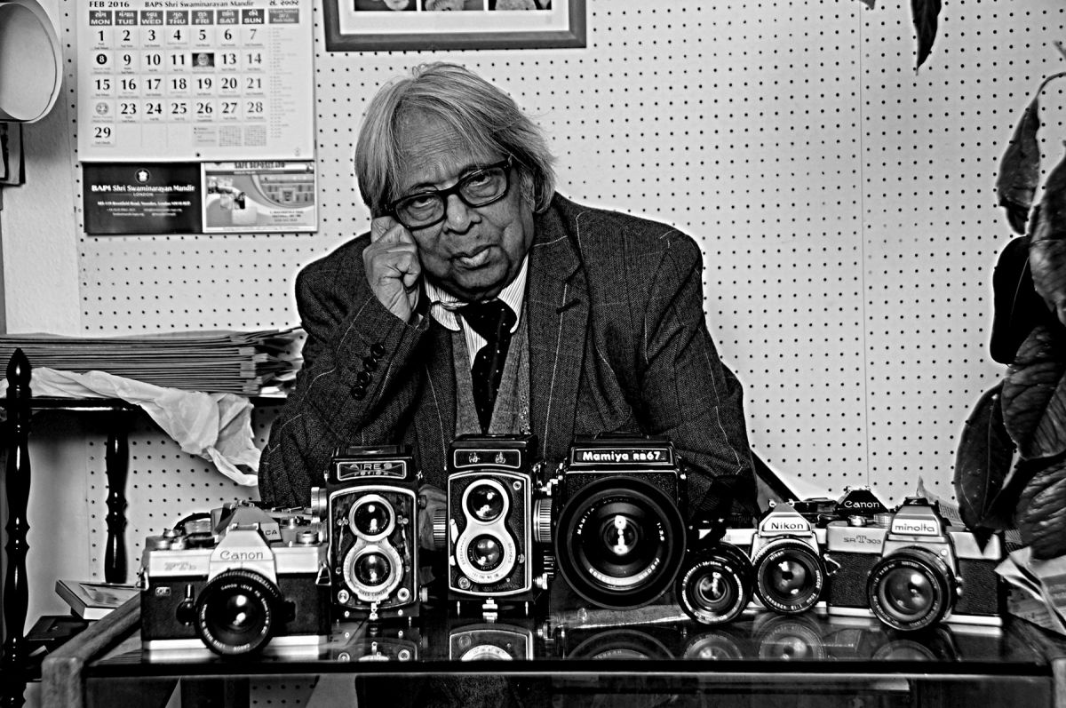 Masterji with his camera collection